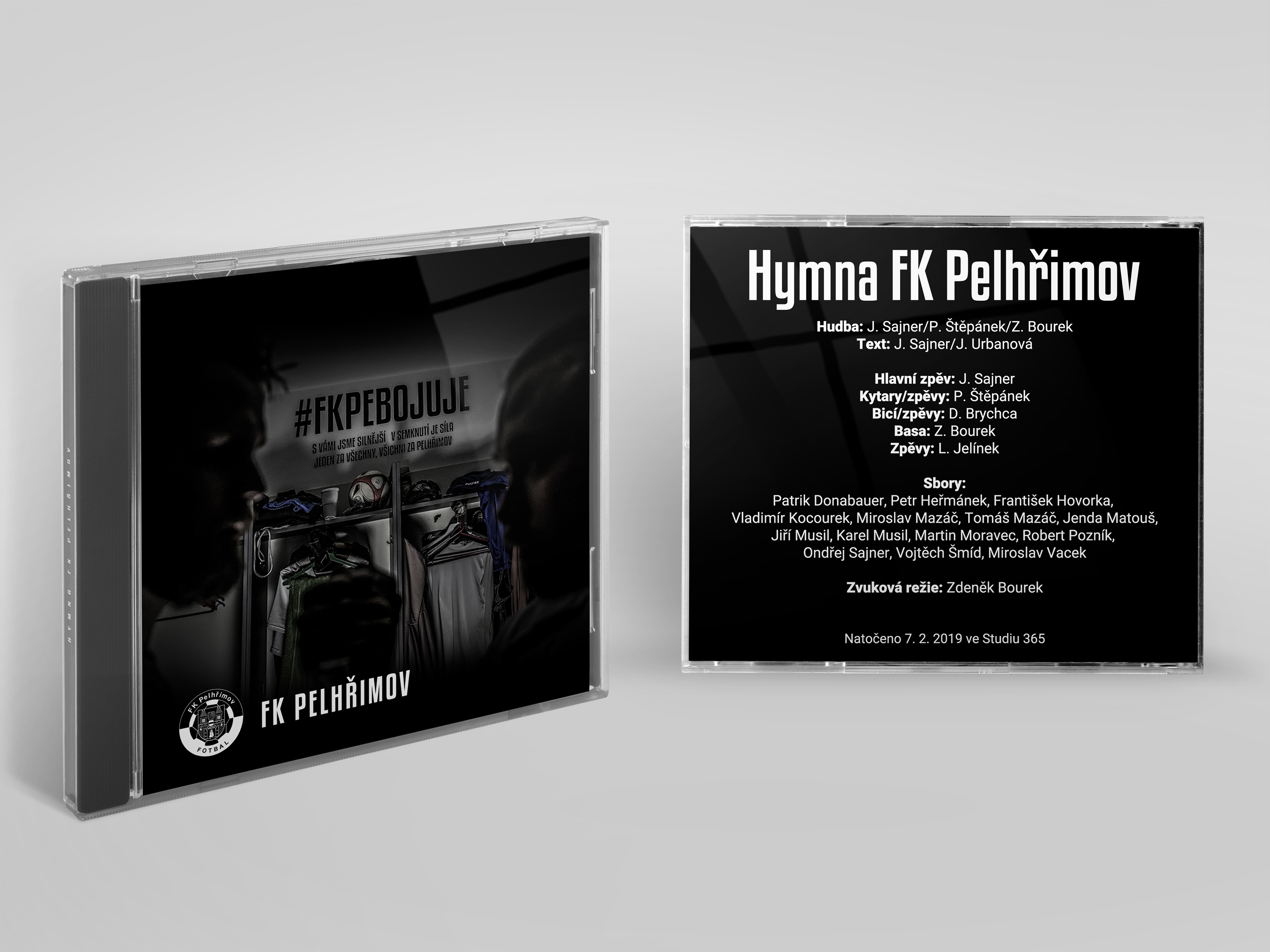 Hymna klubu na CD – přebal